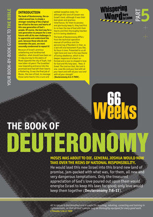 Bible Book Overview | Deuteronomy | 05 of 66 |