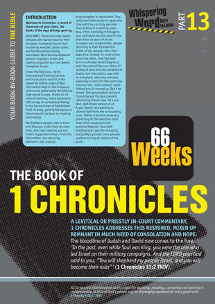 Bible Book Overview | 1 Chronicles | 13 of 66 |