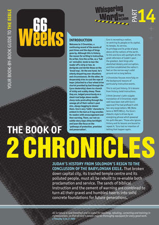 Bible Book Overview | 2 Chronicles | 14 of 66 |