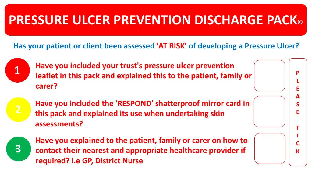 Pressure Ulcer Prevention Discharge Pack©B (DP01) ex VAT