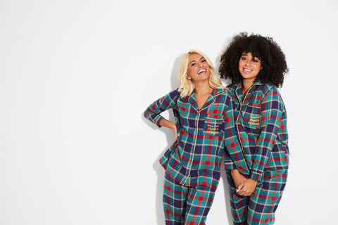 Christmas Check Shirt Long PJ Set.
