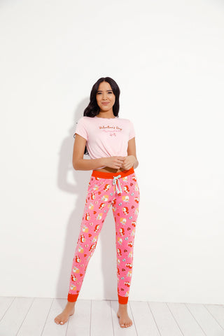 Chelsea Peers NYC Valentines Dog Long PJ Set