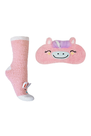 Unicorn Dream Sock & Eye Mask Set