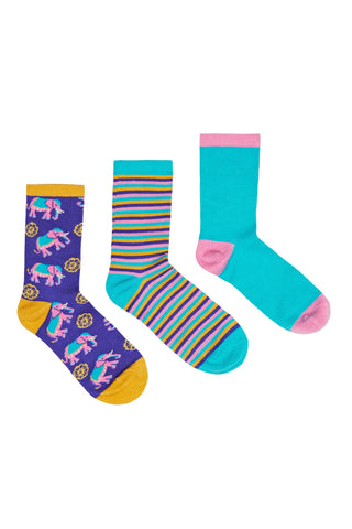 Elephant Stripe Sock Set