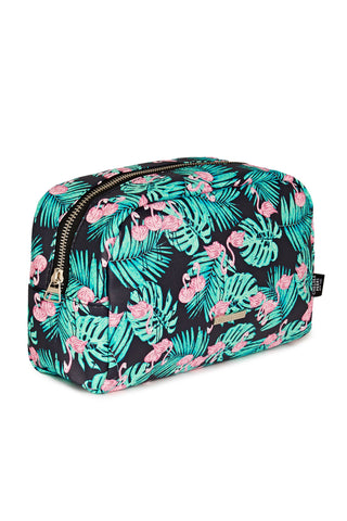 Flamingo Palm Cosmetics Bag