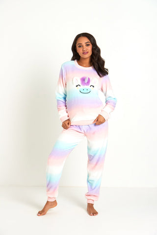 Fluffy Unicorn Pyjama Set