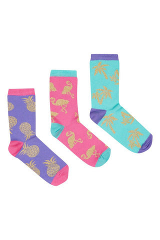 Gold Foil Socks Set