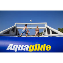 Aquaglide Floating Volleyball Field Supervolley 30 Water Park Bouncer - 585219616 - Water Bouncers