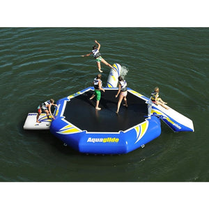 Aquaglide Rebound 16 Aquapark - With Slide & Log - 585209201 - Water Bouncers