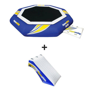Aquaglide Water Trampoline Supertramp 23 With Swimstep - 585209103 - Water Trampolines