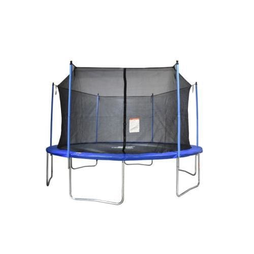 B2B 14 Ft Trampoline with Enclosure Net Outdoor Fitness Trampoline PVC Spring Cover Padding for Children and Adults - W47022815 - Round