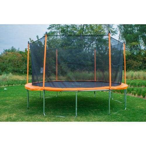 B2B 14 Ft Trampoline with Enclosure Net Outdoor Fitness Trampoline PVC Spring Cover Padding for Children and Adults - W47022814 - Round