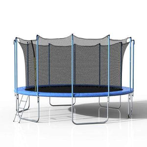 B2B 16FT Round Trampoline with Safety Enclosure Net & Ladder Spring Cover Padding Outdoor Activity - SM000050CAA - Round Trampolines