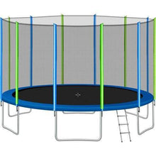 B2B 16FT Trampoline for Kids with Safety Enclosure Net Ladder and 12 Wind Stakes Round Outdoor Recreational Trampoline - SW000041AAC - Round