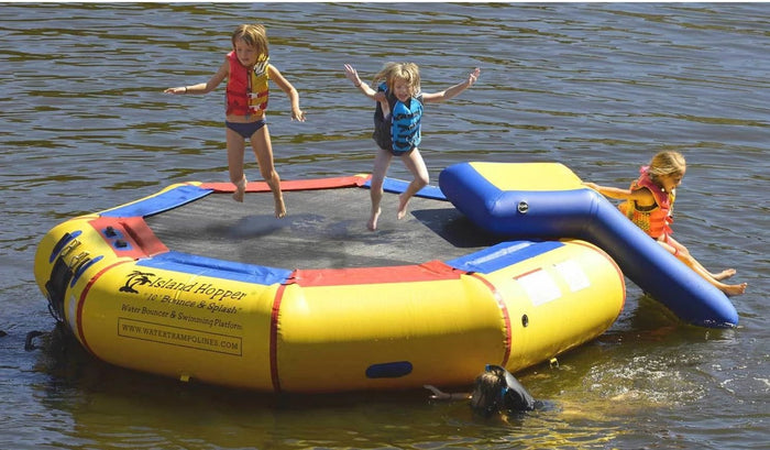 Island Hopper 10 Bounce & Splash & Bouncer Slide - Water Park - 10BNS-WP - Water Trampolines