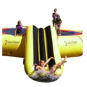 Island Hopper Bounce N Slide Water Attachment for Water Trampoline & Bouncer -- PVCSLIDE - Water Toys