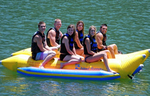 Elite Class Commercial Banana Boat 6 Passenger Side-by-Side by Island Hopper - PVC-6-SBS - Banana Boats