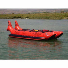 Island Hopper Elite Class Red Shark Banana Boat 10 Passenger - RSPVC-10 - Banana Boats