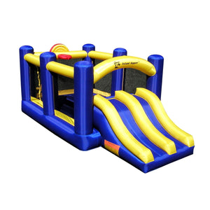 Island Hopper Racing Slide & Slam Recreational Bounce House - RACSLDSLM - Bounce Houses