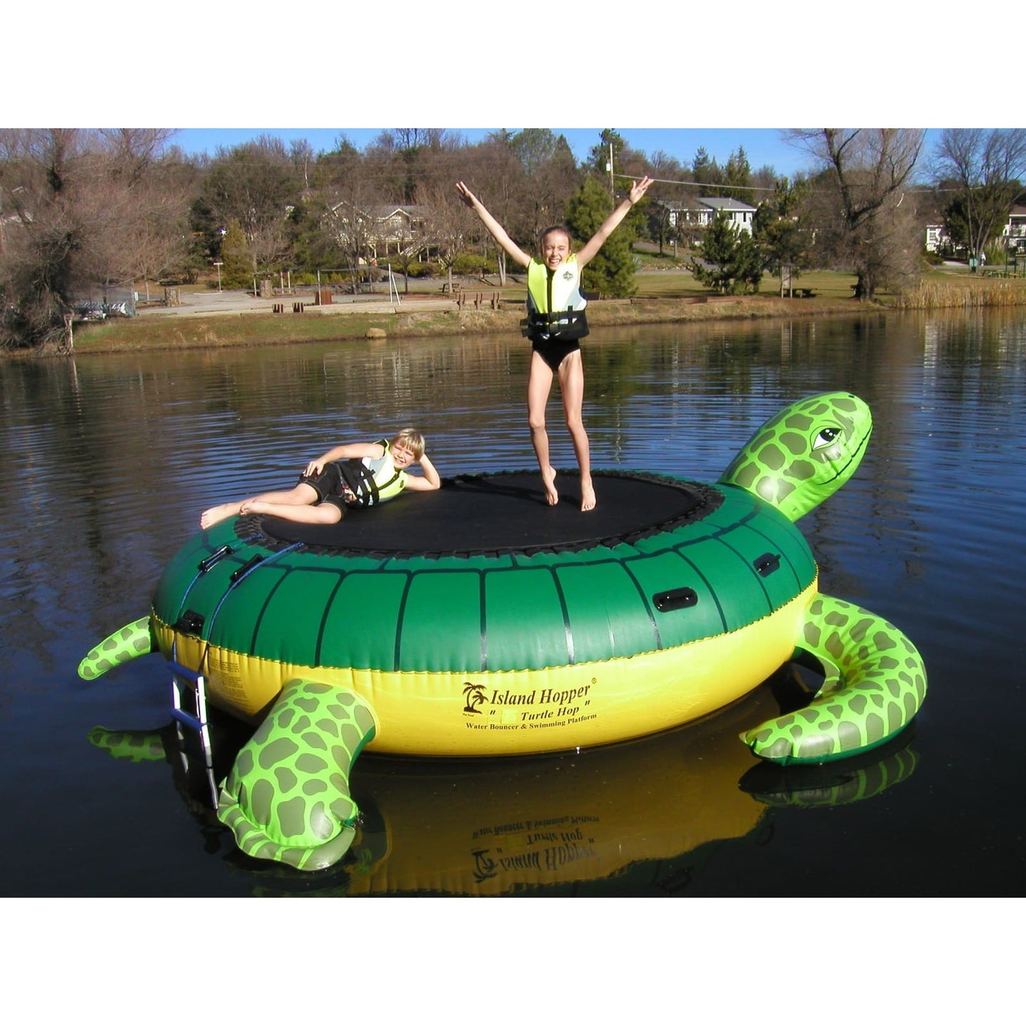 Island Hopper Turtle Hop Green Recreational Water Bouncer - Thop - Water Bouncers