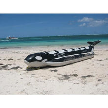 Island Hopper Whale Ride Banana Style Water Sled 6 Passenger in-line - PVC-6-WR - Banana Boats