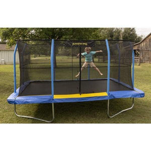10' X 15' JumpKing Rectangular Blue/Yellow Pad Trampoline Combo Model JKRC1015BYC3-DAL