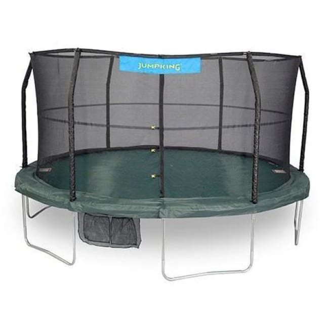 Jumpking 15 Ft Trampoline Incl. Enclosure Green/ Black -- Jk1566C2 - Trampolines