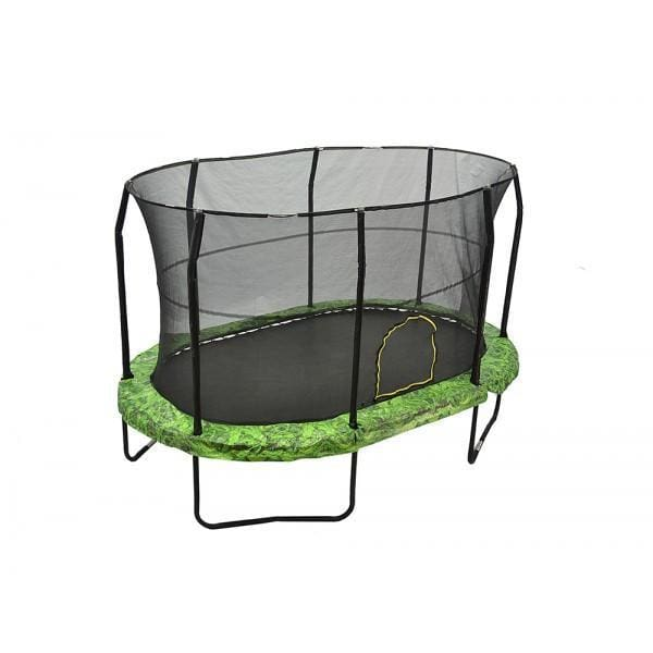 Jumpking 9 x 14 ft Oval Kids Trampoline With Fern Graphic Pad - JK914FN - Discontinoed - Oval Trampolines