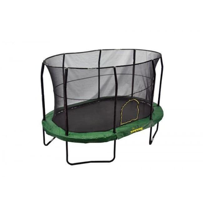 Jumpking 9 X 14 Ft Oval Kids Trampoline With Solid Green Pad - Jk914gr