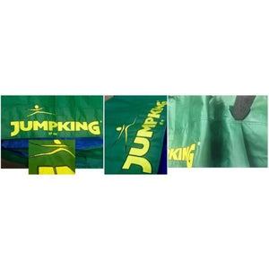 Jumpking Oval 8 X 12 Ft Oval Kids Trampoline With Solid Green Pad - Jk812Gr - Trampolines
