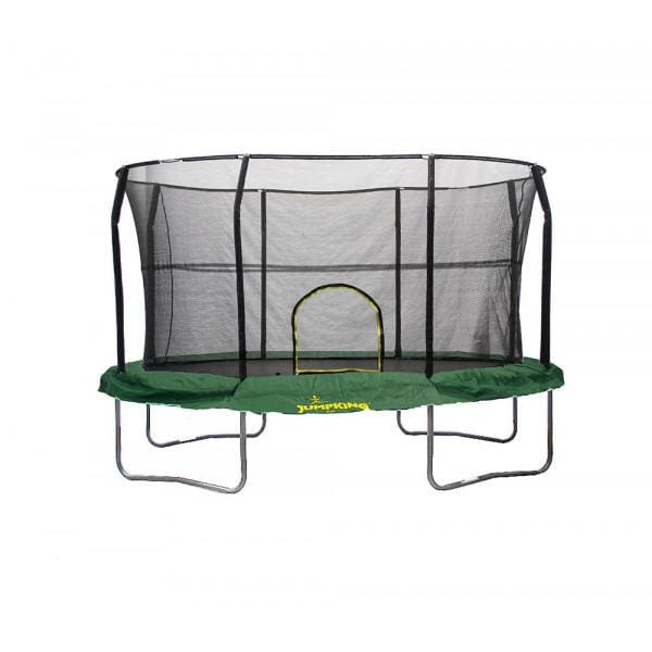 JUMPKING OVAL 9' x 14' WITH SOLID GREEN PAD - JK914GR-V2 - Oval Trampolines
