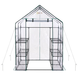 Ogrow Deluxe Walk-In 6 Tier 12 Shelf Portable Greenhouse - Og6868-D - Greenhouses & Accessories