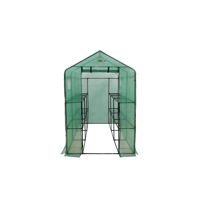 Ogrow Extra Large Heavy Duty Walk-In Portable Lawn - Garden Greenhouse - Og4998-2T12 - Greenhouses & Accessories