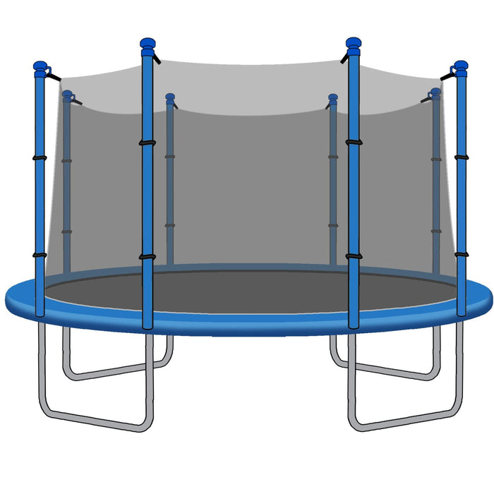 SkyBound 12 Foot Trampoline Net - Fits 12 Foot Frames with 8 Straight Enclosure Poles or 4 Arches - Trampoline Replacements