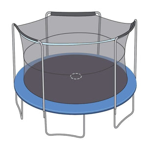 SkyBound 15Ft Trampoline Net Fits 15 Ft Bouncepro And Sportspower Trampolines With 3 Arches - Trampoline Replacements