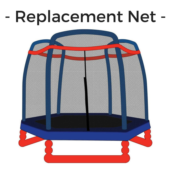Skybound 7Ft Replacement Trampoline Net For 3 Arch Enclosures (Fits Little Tikes Skybound) - Trampoline Replacements