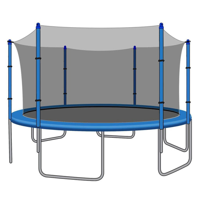 SkyBound Replacement Net for 12ft Trampolines - Fits 6 Straight Poles (Using Bolted Pole Caps) - Trampoline Replacements