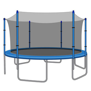 SkyBound Replacement Net for 14ft Trampolines - Fits 6 Straight Poles (Using Bolted Pole Caps) - Trampoline Replacements