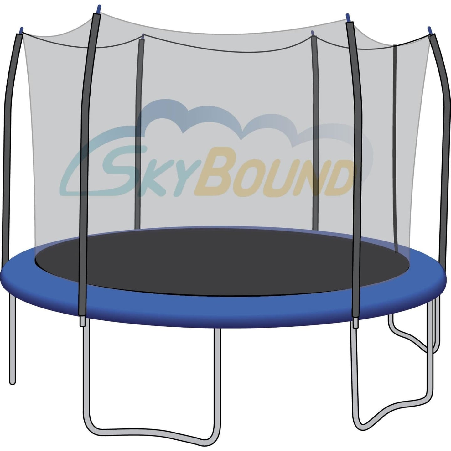 SkyBound Trampoline Net For 12 Round Skywalker Trampoline Fits 6 Poles (Net Only) - Trampoline Replacements