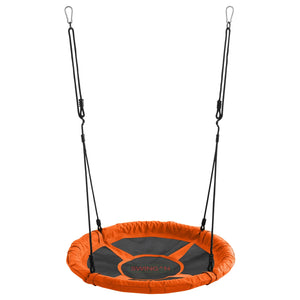 Swingan - 37.5 Super Fun Nest Swing With Adjustable Ropes - Orange - Swmso - Swings & Accessories