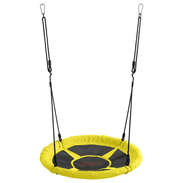 Swingan - 37.5 Super Fun Nest Swing With Adjustable Ropes - Yellow - SWMSY - Swings & Accessories