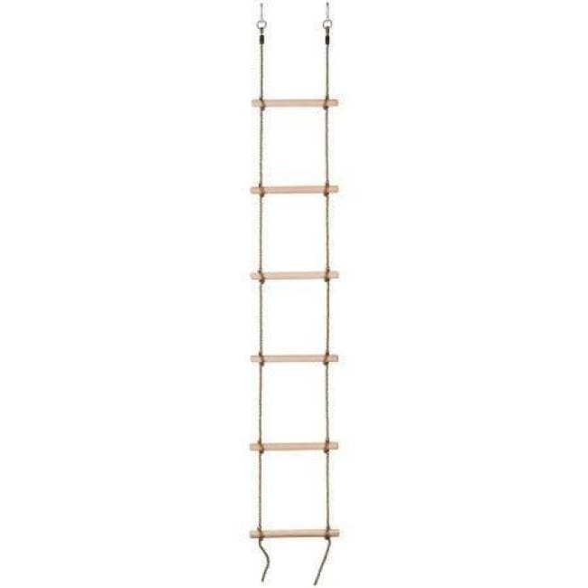 Swingan - 6 Steps Gymnastic Climbing Rope Ladder - Fully Assembled - Sw-Wlr - Swings & Accessories