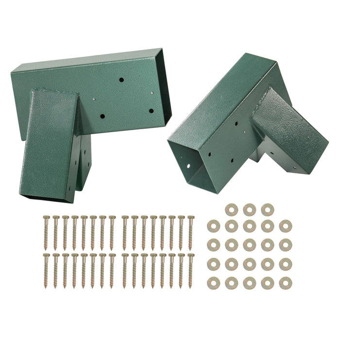Swingan - A-Frame Bracket - Green Powder Coating - Set Of 2 - Swhwd-Asb-2 - Swings & Accessories