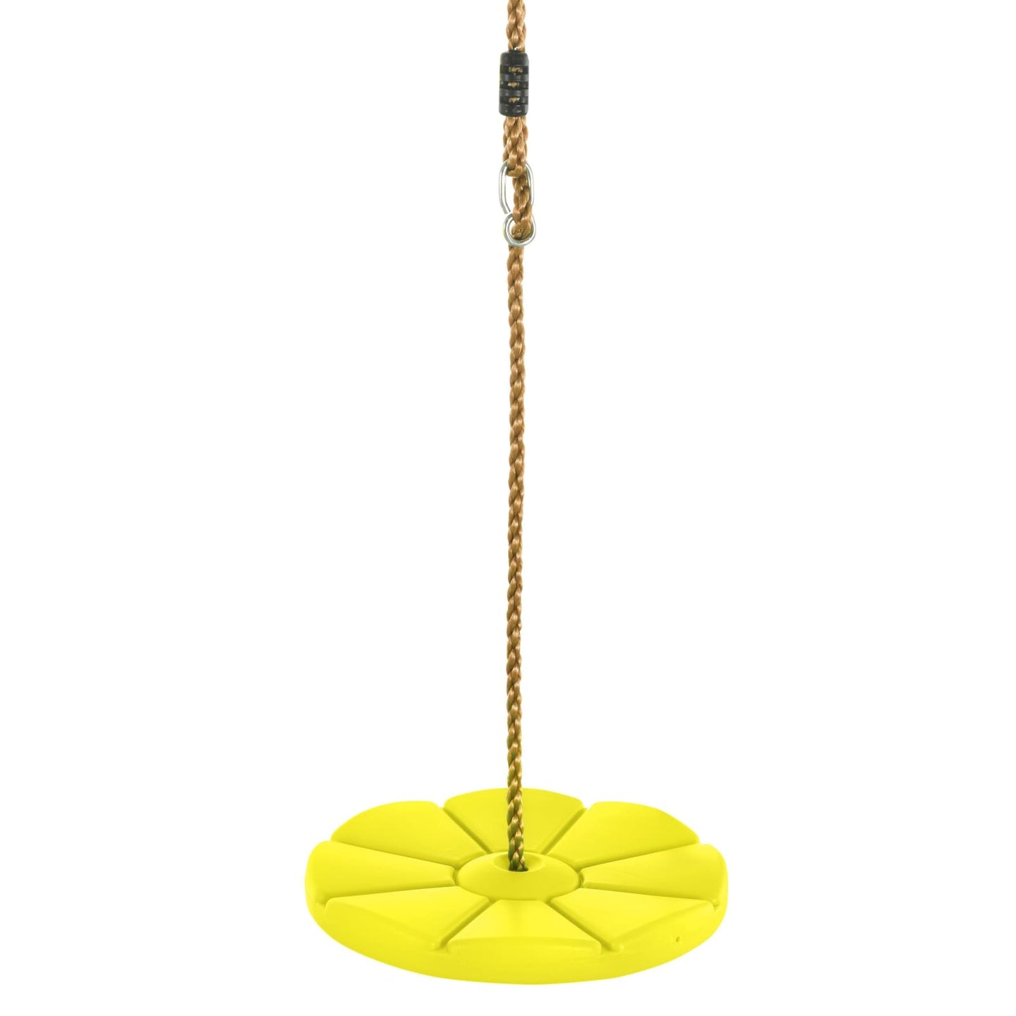 Swingan - Cool Disc Swing With Adjustable Rope - Yellow - SWDSR-YL - Swings & Accessories