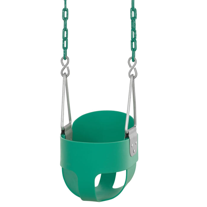 Swingan - High Back Full Bucket Toddler & Baby Swing - Green - SWBSC-GN - Swings & Accessories