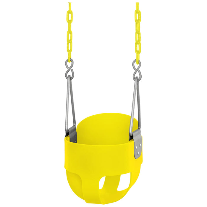 Swingan - High Back Full Bucket Toddler & Baby Swing - Yellow - SWBSC-YL - Swings & Accessories