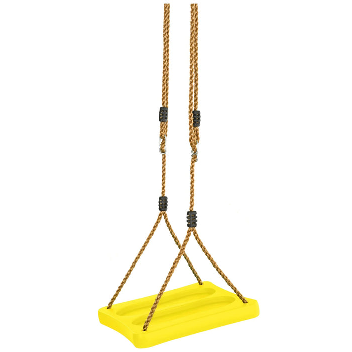 Swingan - One Of A Kind Standing Swing With Adjustable Ropes - Yellow - SWSSR-YL - Swings & Accessories