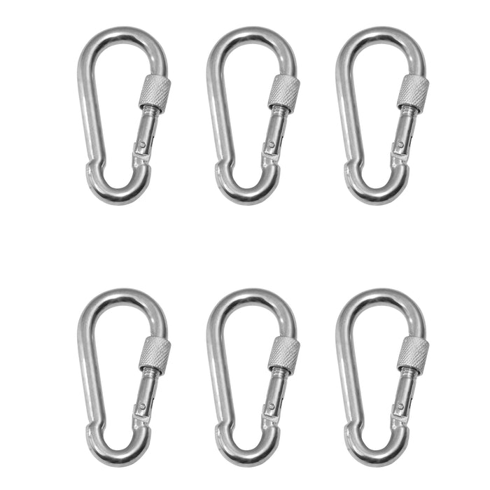 Swingan - Snap Hook With Screw Lock - Set Of 6 - Swhwd-Ql-6 - Swings & Accessories