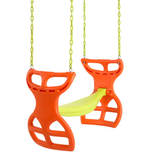 Swingan - Two Seater Glider Swing - Orange - Yellow - SWGSC-OY - Swings & Accessories