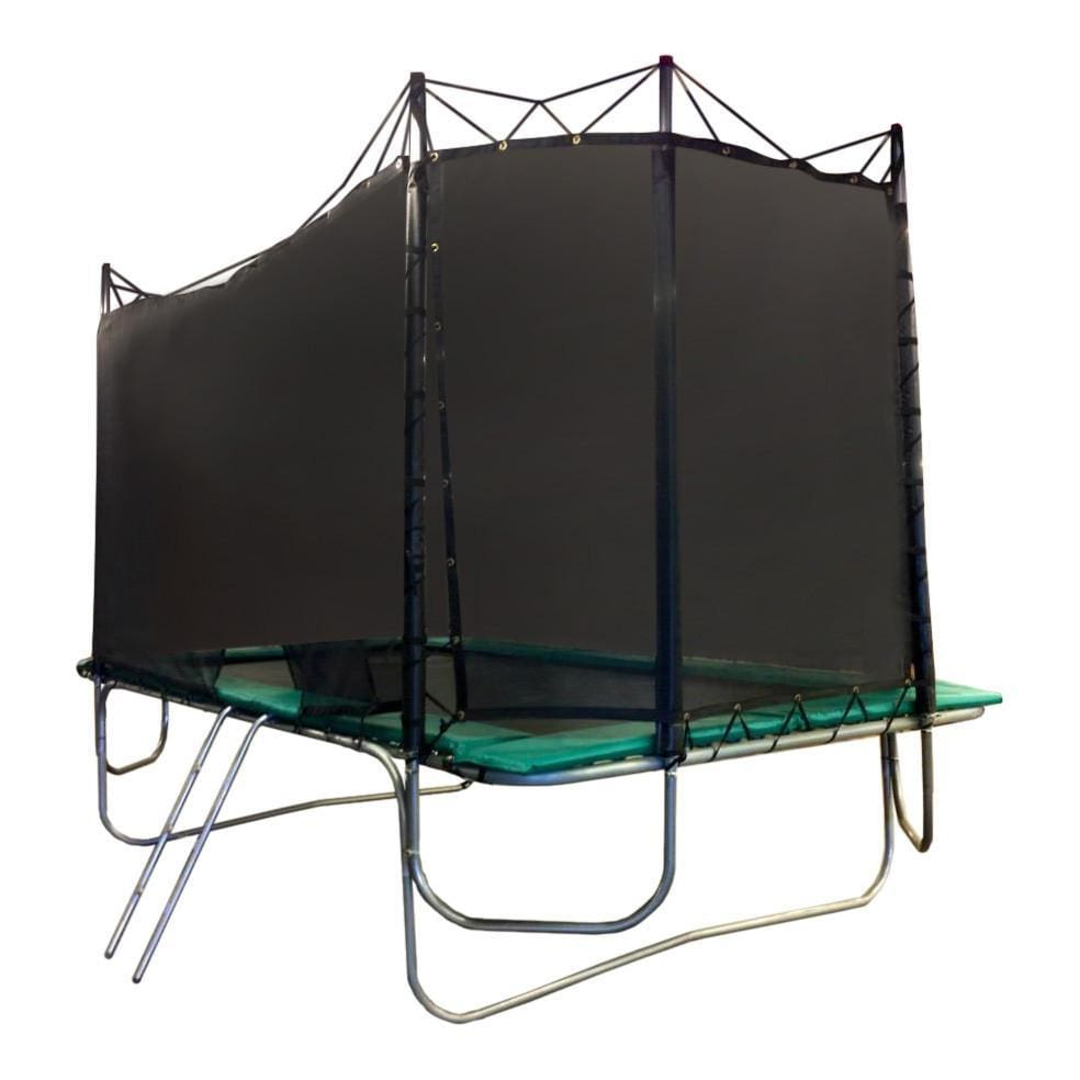 Texas Trampoline 8 x 13 ft Kids Delight w/ Enclosure - Blue / Green / Red - green - Rectangle Trampolines